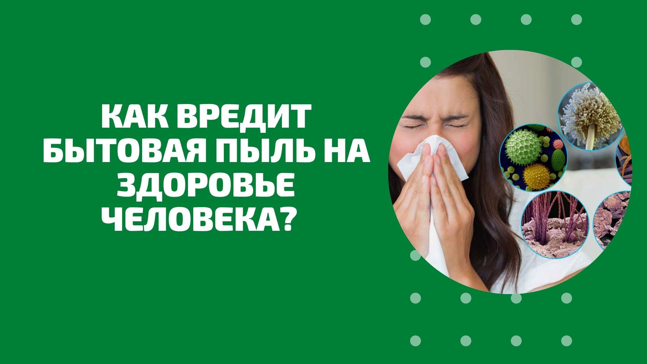 Как вредит бытовая пыль на здоровье человека
